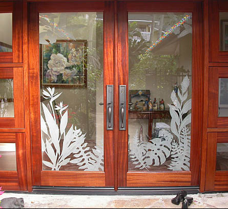 Showcase Etched And Sand Carved Glass